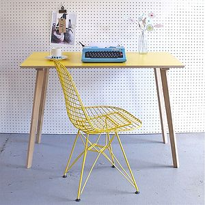 Perky Formica Table, Yellow - office & study