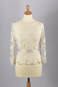 Alicia Lace Peplum Jacket - wedding fashion