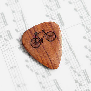 Personalised Wooden Bicycle Plectrum