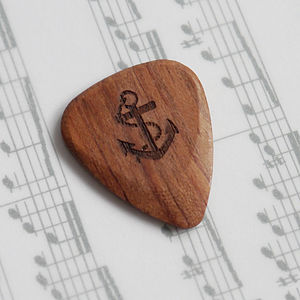 Personalised Wooden Anchor Plectrum