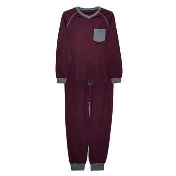 Men's Burgundy Lounge Set