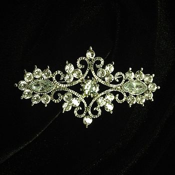 Vintage Sparkly Art Deco Brooch