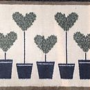 Eco Friendly Doormat Runner Topiary Hearts