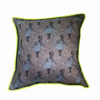 Weightless Grey/Blue Neon Trim Cushion Cover