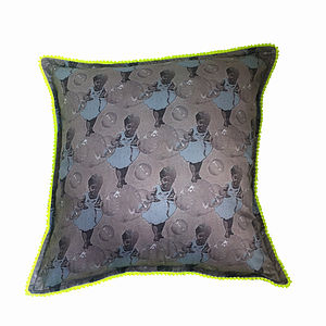 Weightless Grey/Blue Neon Trim Cushion Cover - shop by price