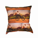 Ostrich Rider Luxury Cushion Cover