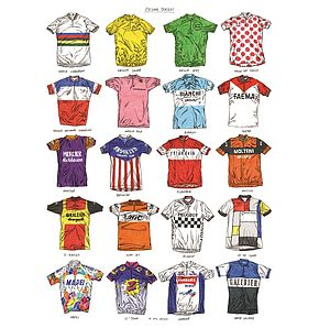 David Sparshott Cycling Print - posters & prints