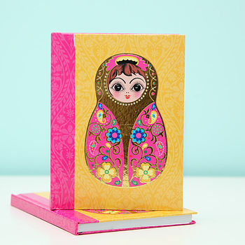 Russian Doll Hard Backed Note Book Pad