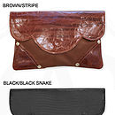 Georgie Leather Clutch Bag: Colour Options