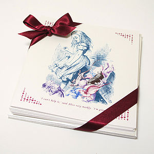Fairy Tale Alice In Wonderland Greeting Cards