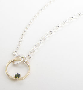Queen Necklace With Green Tourmaline - women's jewellery