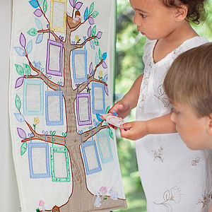 Family Tree Children's Wall Hanging - picture frames
