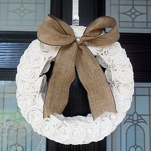 Sola Rose Circular Wreath - room decorations