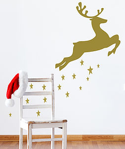 Reindeer And Stars Wall Stickers