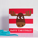 Happy Christmas Moose Card