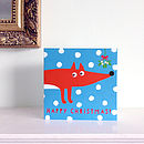 Happy Christmas Fox Card