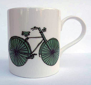 Bike Illustration Mug - kitchen
