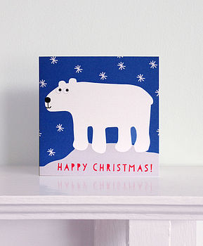 Happy Christmas Polar Bear Card