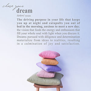 Dream Definition Wall Sticker Decoration - bedroom