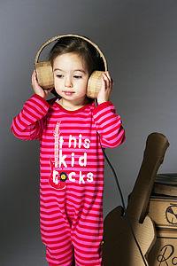 This Kid Rocks Sleepsuit - clothing
