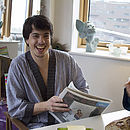 'Rainy Day' Mens Dressing Gown