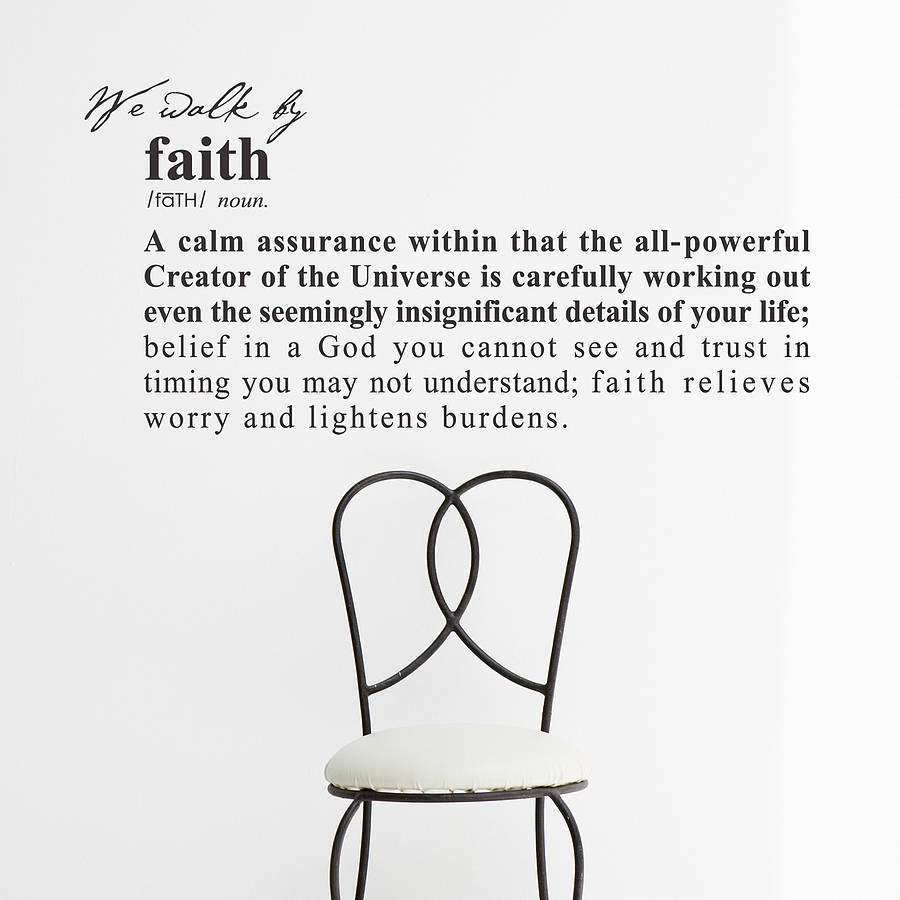 Faith definition wall sticker decoration by snuggledust for Decoration definition