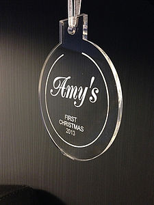Personalised Christmas Tree Decoration Round