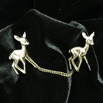 Vintage Deer Clips Brooch