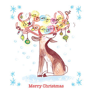 Pack Of Five Illustrated Christmas Cards - shop by category