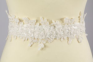 Bridal Lace Belt - wedding fashion