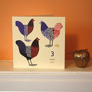 Three French Hens Card - cards & wrap