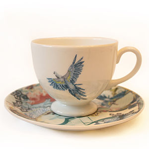 Fine Bone China Tea Cup And Saucer Set