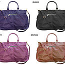 Lily Leather Tote Bag: Colour Options