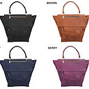Jamie Leather Tote Bag: Colour Options