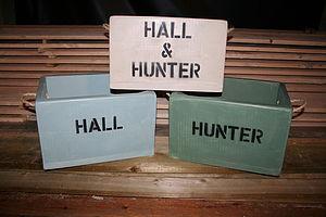 Personalised Wine Box Or Storage Box