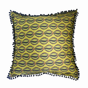 'Cowrie' Designer Luxury Cushion Cover - cushions
