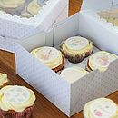 Frills Cupcake Boxes For Four Cupcakes