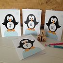 Children's Personalised Penguin Card