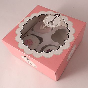Parisienne Cupcake Boxes: Pack Of Two