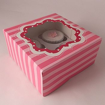 Candy Stripe Cupcake Boxes: Pack Of Two