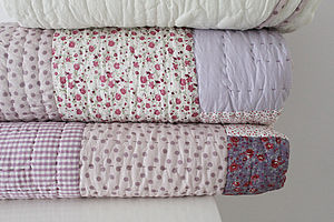 Cosy Winter Quilted Throw   Kingsize - bedspreads & quilts