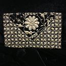 Vintage Floral Beaded Clutch Bag