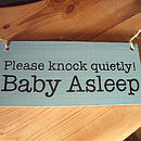 Personalised New Wood Sign