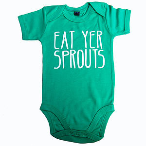 Eat Yer Sprouts Babygro
