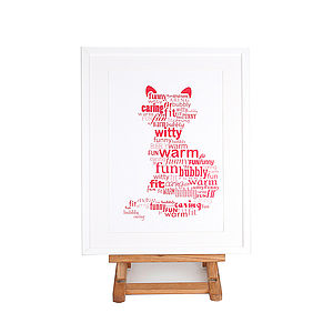 Personalised Cat Poster Print - home