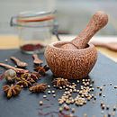 Coco Wood Mini Pestle And Mortar Grinder