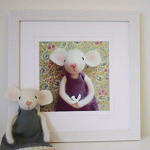 Hand Made Childrens Framed Print - baby & child