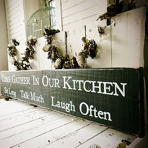 Personalised Large Statement Sign For Kitchen