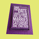 Personalised Save The Date Fridge Magnet