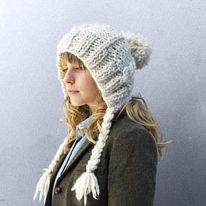 Make Your Own Cable Coo Hat Knitting Kit - winter sale